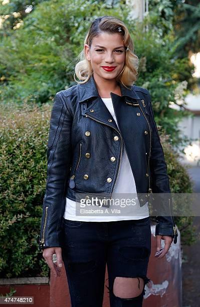Emma Marrone arrives at PREMIO TV 2015 Awards at RAI Dear Studios on May 25 2015 in Rome Italy
