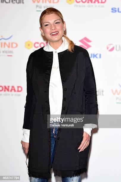 Emma Marrone attends Sanremo 2015 Day 3 Photocall during the 65th Festival della Canzone Italiana 2015 at Teatro Ariston on February 12 2015 in...