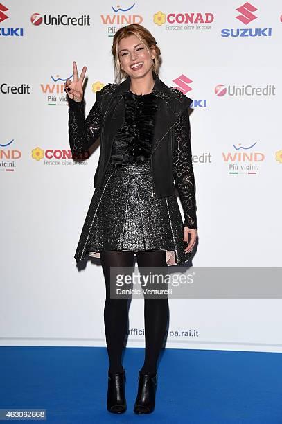 Emma Marrone attends the 65th Festival della canzone Italiana 2015 press conference at Teatro Ariston on February 9 2015 in Sanremo Italy