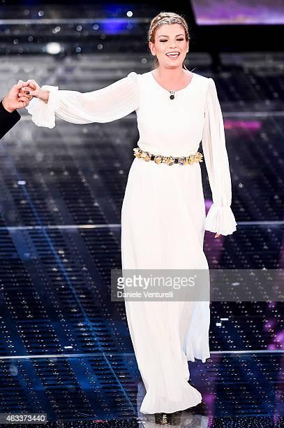 Emma Marrone attends the Fourth night of 65th Festival di Sanremo 2015 at Teatro Ariston on on February 13 2015 in Sanremo Italy