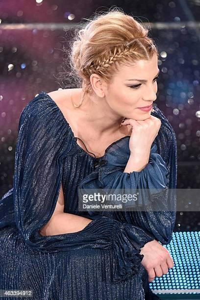 Emma Marrone attends the fourth night of 65th Festival di Sanremo 2015 at Teatro Ariston on February 13 2015 in Sanremo Italy