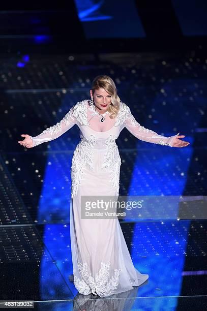 Emma Marrone attends the opening night of the 65th Festival di Sanremo 2015 at Teatro Ariston on February 10 2015 in Sanremo Italy