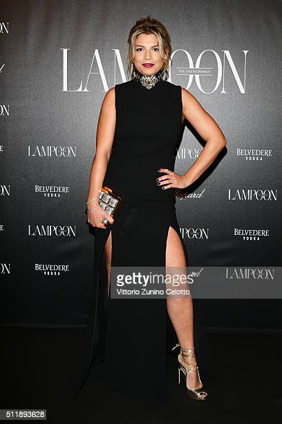 Emma Marrone attends #THE ROYAL PUNK Party By Lampoon on February 23 2016 in Milan Italy