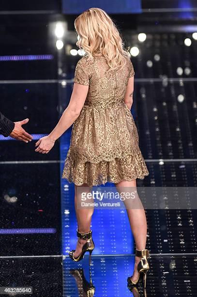 Emma Marrone attends the thirth night of 65th Festival di Sanremo 2015 at Teatro Ariston on February 12 2015 in Sanremo Italy