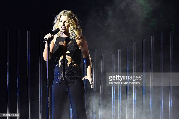 Emma Marrone performs at 'X Factor' Tv Show on November 5 2015 in Milan Italy