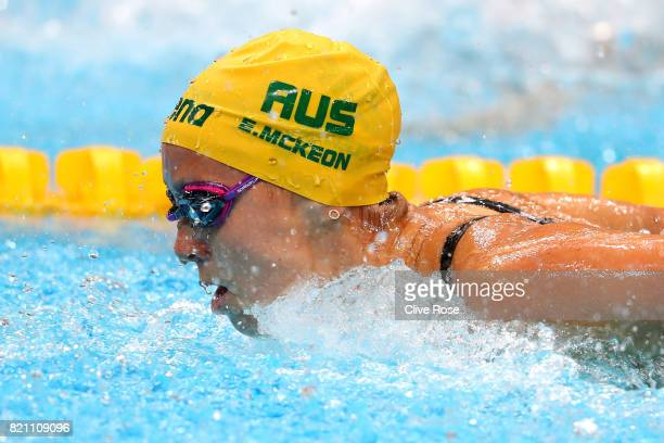 Emma Mckeon of Australia during the Women's 100m Butterfly Heats on day ten of the Budapest 2017 FINA World Championships on July 23 2017 in Budapest...