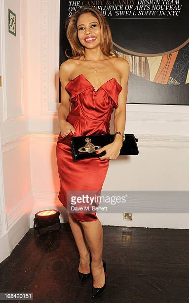Emma McQuiston attends the launch of Candy Magazine's Spring/Summer 2013 issue supported by Grey Goose at Il Bottaccio on May 9 2013 in London England
