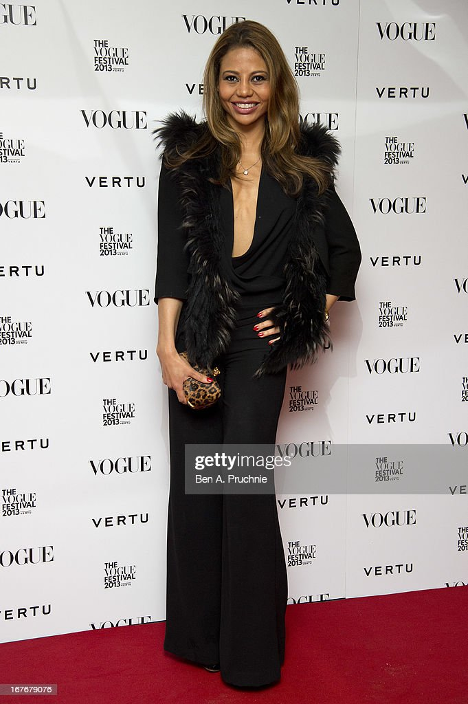 Emma McQuiston attends the opening party for The Vogue Festival in association with Vertu at Southbank Centre on April 27, 2013 in London, England.