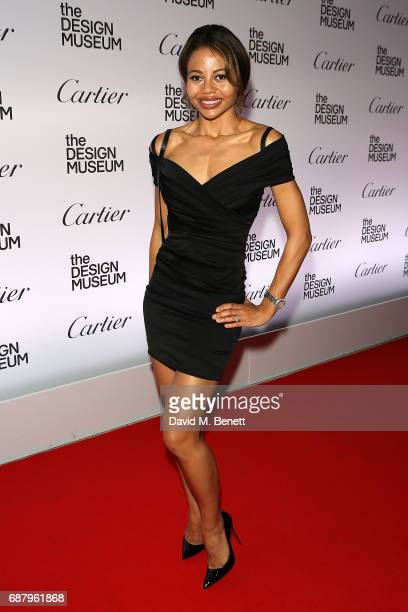 Emma McQuiston attends the private view of the 'Cartier In Motion' exhibition curated by Norman Foster at The Design Museum on May 24 2017 in London...