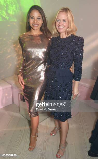 Emma McQuiston Viscountess of Weymouth and Kate Reardon attend Tatler's English Roses 2017 in association with Michael Kors at the Saatchi Gallery on...