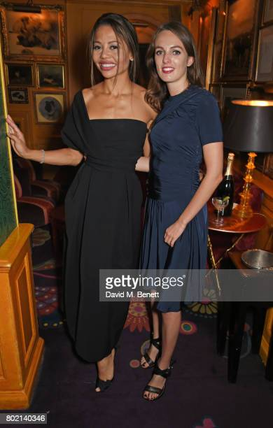 Emma McQuiston Viscountess of Weymouth and Lady Violet Manners attend the Rita Ora dinner and performance at Annabel's on June 27 2017 in London...