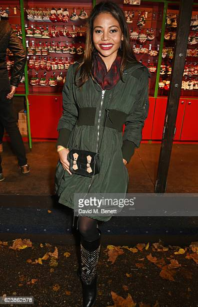 Emma McQuiston Viscountess of Weymouth attends a VIP Preview of Hyde Park's Winter Wonderland 2016 on November 17 2016 in London United Kingdom
