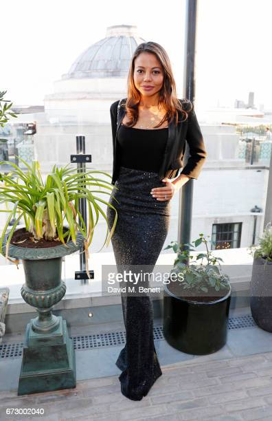 Emma McQuiston Viscountess of Weymouth attends Sarah Sands' leaving party hosted by The Evening Standard on the rooftop at Ned's Club Upstairs during...
