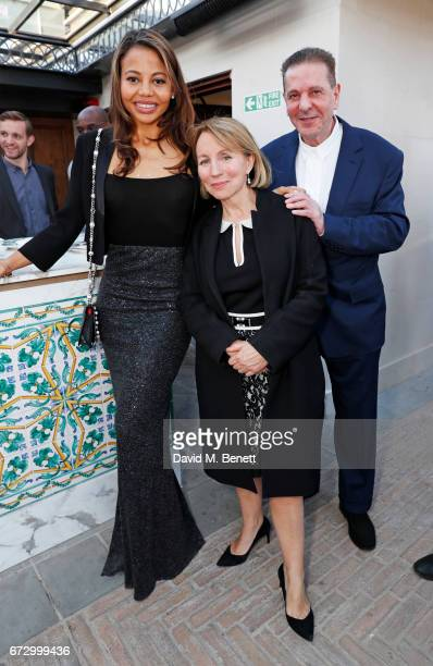 Emma McQuiston Viscountess of Weymouth Sarah Sands and Charles Saatchi attend Sarah Sands' leaving party hosted by The Evening Standard on the...