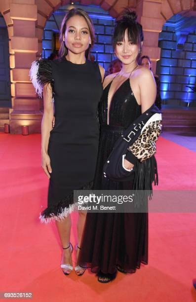 Emma McQuiston Viscountess Weymouth and Betty Bachz attend the Royal Academy Of Arts Summer Exhibition preview party at Royal Academy of Arts on June...
