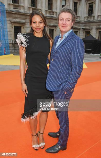 Emma McQuiston Viscountess Weymouth and Ceawlin Thynn Viscount Weymouth attend the Royal Academy Of Arts Summer Exhibition preview party at Royal...