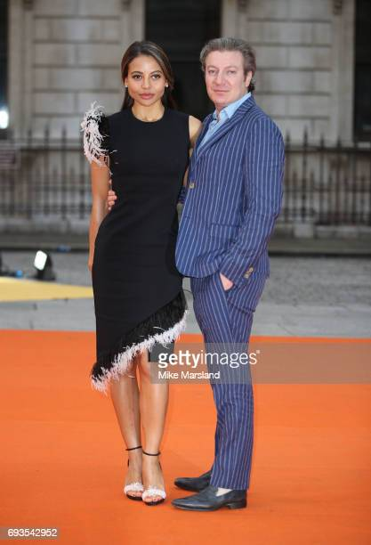 Emma McQuiston Viscountess Weymouth and Ceawlin Thynn Viscount Weymouth attend the preview party for the Royal Academy Summer Exhibition at Royal...