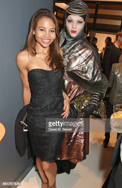 Emma McQuiston Viscountess Weymouth and Daniel Lismore attend the launch of the KATE MOSS X ARA VARTANIAN collection on May 17 2017 in London England