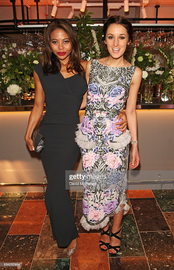 Emma McQuiston, Viscountess Weymouth, and Rosanna Falconer attend the London Evening Standard Londoner's Diary 100th Birthday Party in partnership with Harvey Nichols at Harvey Nichols on May 25, 2016 in London, England.
