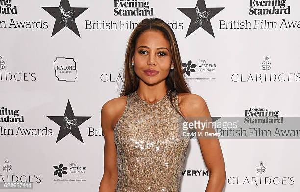 Emma McQuiston Viscountess Weymouth arrive at The London Evening Standard British Film Awards at Claridge's Hotel on December 8 2016 in London England