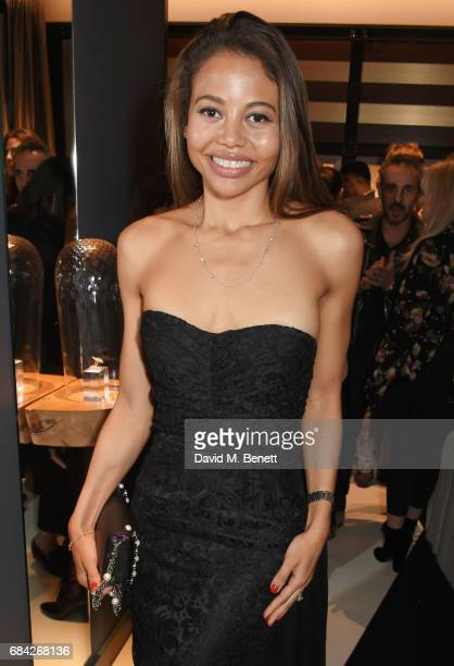 Emma McQuiston Viscountess Weymouth attends the launch of the KATE MOSS X ARA VARTANIAN collection on May 17 2017 in London England