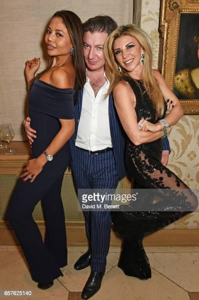 Emma McQuiston Viscountess Weymouth Ceawlin Thynn Viscount Weymouth and Lisa Tchenguiz attend Lisa Tchenguiz's party hosted by Fatima Maleki in...