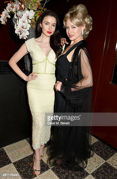 Emma Miller and Gia Genevieve attend the Hunger Magazine Vivienne Westwood Paris Fashion Week Event celebrating the Vivienne Westwood's SS/16 Gold...