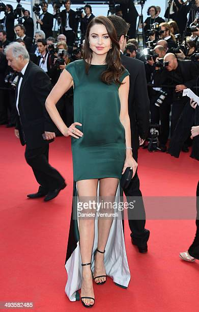 Emma Miller attends the Closing Ceremony and 'A Fistful of Dollars' Screening during the 67th Annual Cannes Film Festival on May 24 2014 in Cannes...