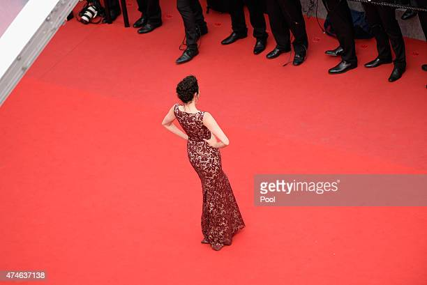 Emma Miller attends the closing ceremony and Premiere of 'La Glace Et Le Ciel' during the 68th annual Cannes Film Festival on May 24 2015 in Cannes...