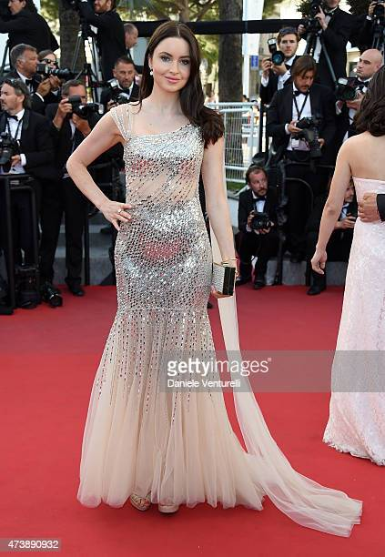 Emma Miller attends the 'Inside Out' Premiere during the 68th annual Cannes Film Festival on May 18 2015 in Cannes France