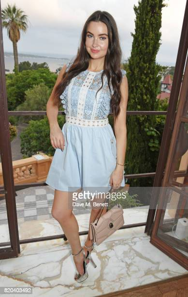 Emma Miller attends the Lelloue launch party at Villa St George on July 21 2017 in Cannes France