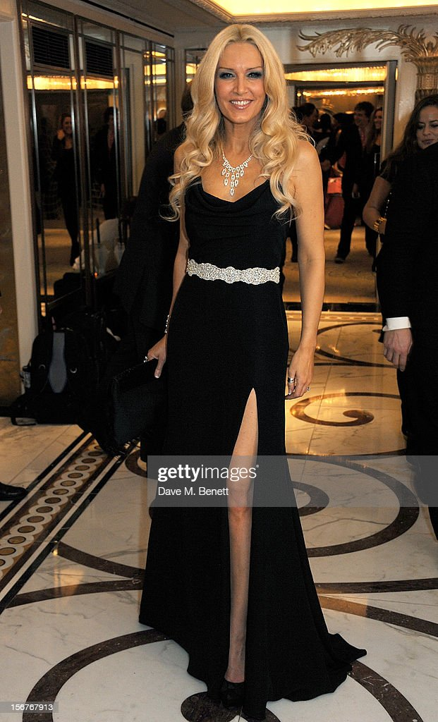 Emma Noble attends a drinks reception at the Amy Winehouse Foundation Ball held at The Dorchester on November 20, 2012 in London, England.