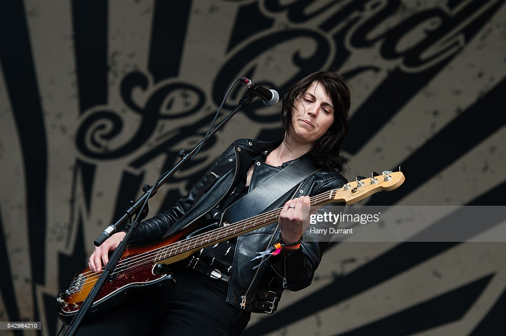 Emma Richardson from Band of Skulls performs on The Other Stage, Glastonbury Festival 2016 at Worthy Farm, Pilton on June 25, 2016 in Glastonbury, England.