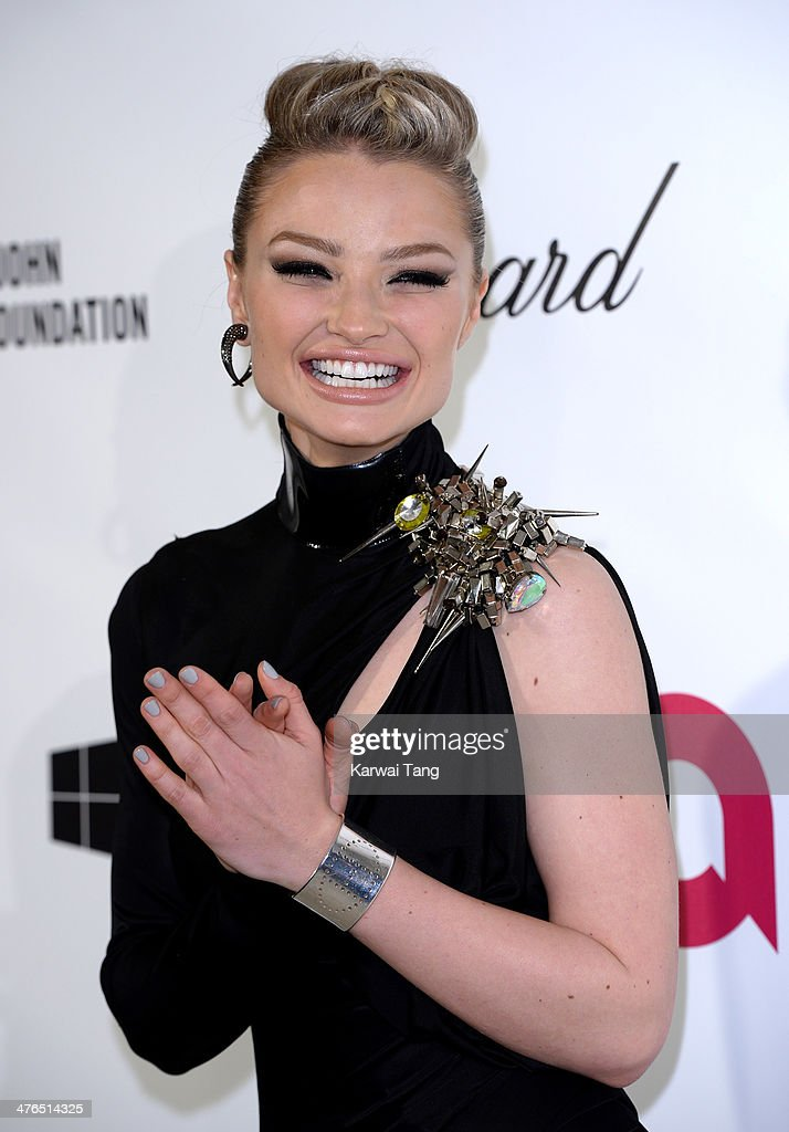 Emma Rigby arrives for the 22nd Annual Elton John AIDS Foundation's Oscar Viewing Party held at West Hollywood Park on March 2, 2014 in West Hollywood, California.