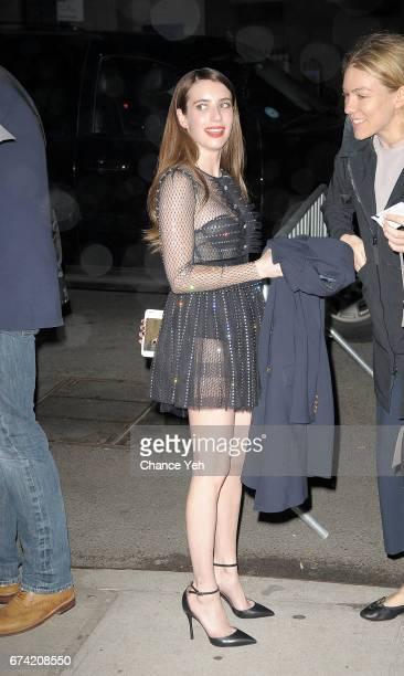 Emma Roberts arrives at 'Dabka' 'Warning This Drug May Kill You' screening during Tribeca Film Festival at SVA Theatre on April 27 2017 in New York...