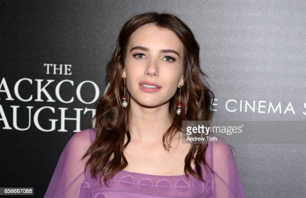 Emma Roberts attends a screening of 'The Blackcoat's Daughter' hosted by A24 and DirecTV with The Cinema Society at Landmark Sunshine Cinema on March...