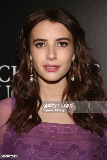Emma Roberts attends A24 and DirecTV with The Cinema Society Host a Screening of 'The Blackcoat's Daughter' on March 22 2017 in New York City