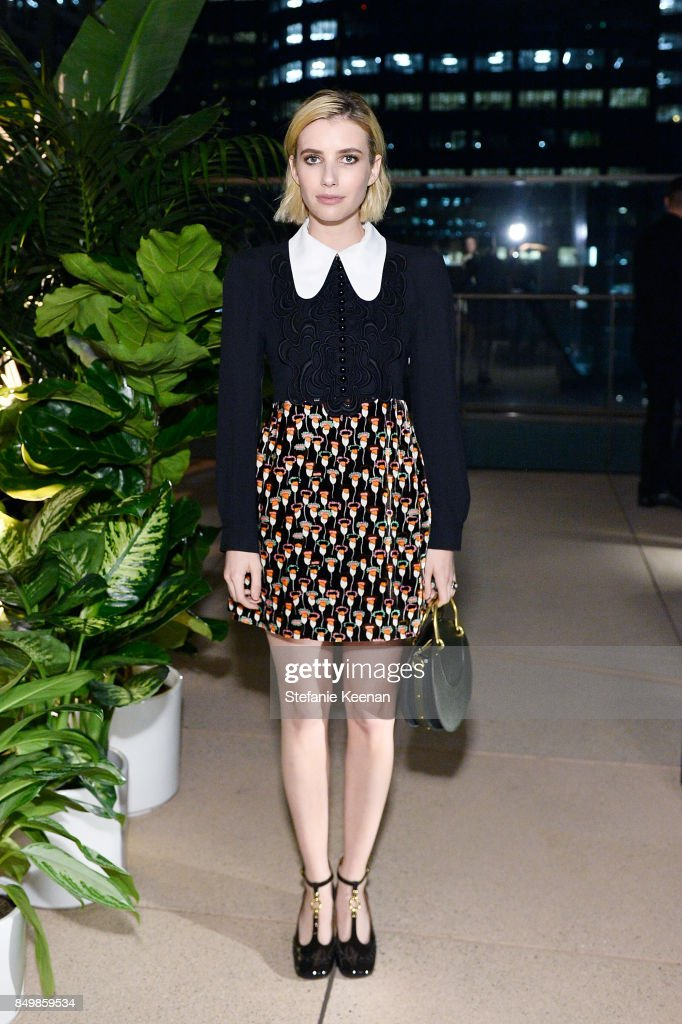 Emma Roberts attends Chloe x MOCA Dinner at MOCA Grand Avenue on September 19, 2017 in Los Angeles, California.