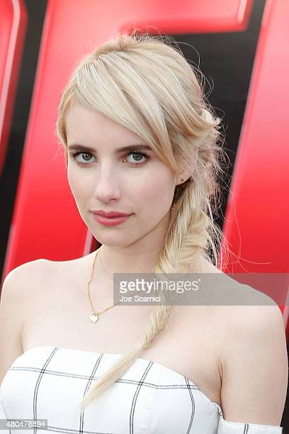 Emma Roberts attends ComicCon International 2015 Day 3 on July 11 2015 in San Diego California