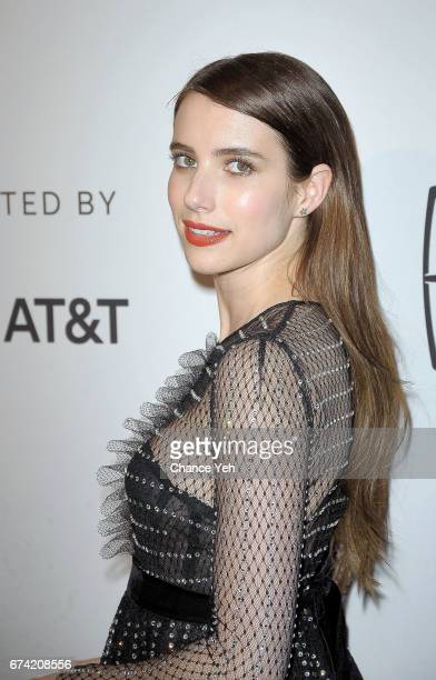 Emma Roberts attends 'Dabka' 'Warning This Drug May Kill You' screening during Tribeca Film Festival at SVA Theatre on April 27 2017 in New York City