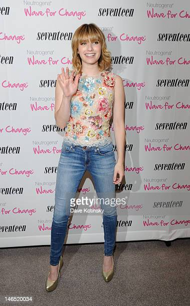 Emma Roberts attends Seventeen Magazine Hosts 2nd Annual 'Pretty Amazing' Finalists Luncheon at Hearst Tower on June 18 2012 in New York City