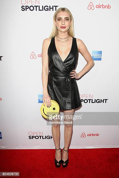 Emma Roberts attends the 3rd Annual Airbnb Open Spotlight at Various Locations on November 19 2016 in Los Angeles California