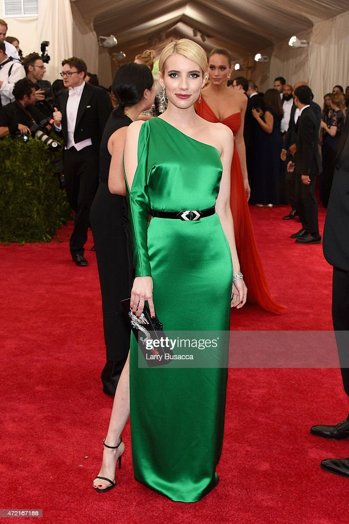 Emma Roberts attends the 'China Through The Looking Glass' Costume Institute Benefit Gala at the Metropolitan Museum of Art on May 4 2015 in New York...