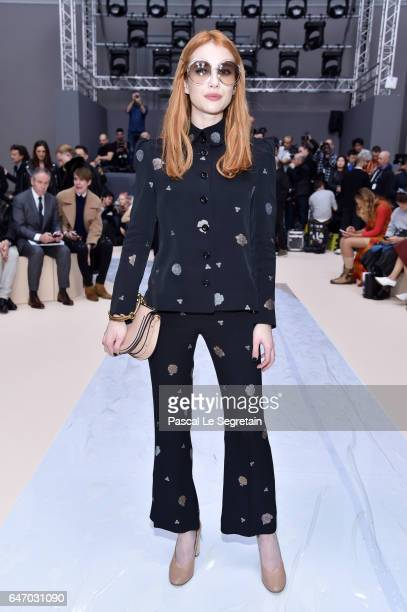 Emma Roberts attends the Chloe show as part of the Paris Fashion Week Womenswear Fall/Winter 2017/2018 on March 2 2017 in Paris France