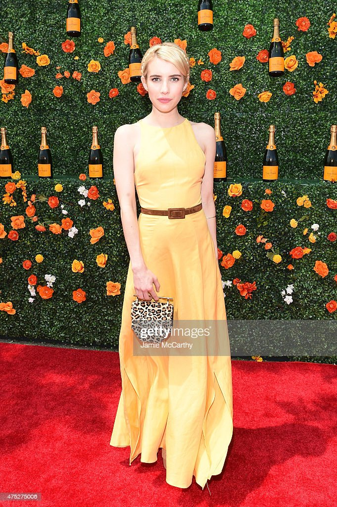 Emma Roberts attends the Eighth-Annual Veuve Clicquot Polo Classic at Liberty State Park on May 30, 2015 in Jersey City, New Jersey.