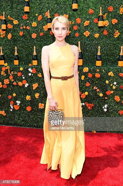 Emma Roberts attends the EighthAnnual Veuve Clicquot Polo Classic at Liberty State Park on May 30 2015 in Jersey City New Jersey