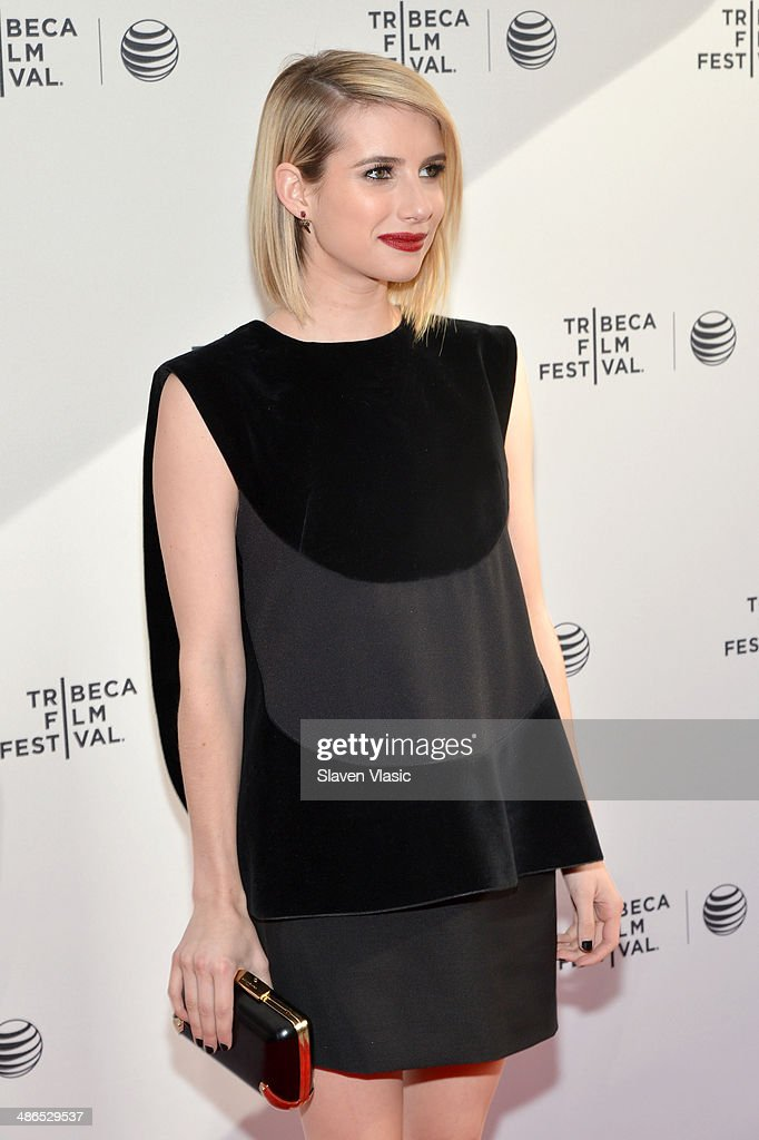 Emma Roberts attends the 'Palo Alto' Premiere during the 2014 Tribeca Film Festival at the SVA Theater on April 24, 2014 in New York City.