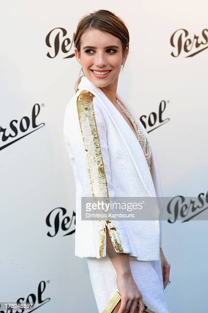 Emma Roberts attends the Persol Magnificent Obsessions event honoring Julie Weiss and Jeannine Oppewall at the MMI on July 10 2013 in New York City