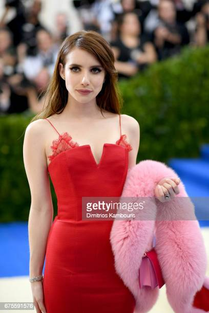 Emma Roberts attends the 'Rei Kawakubo/Comme des Garcons Art Of The InBetween' Costume Institute Gala at Metropolitan Museum of Art on May 1 2017 in...