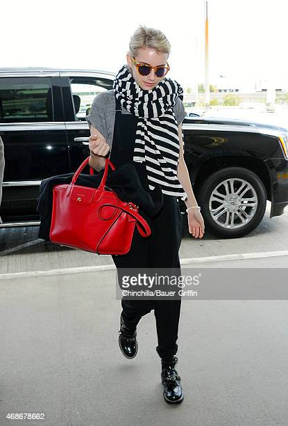 Emma Roberts is seen at LAX on April 05 2015 in Los Angeles California